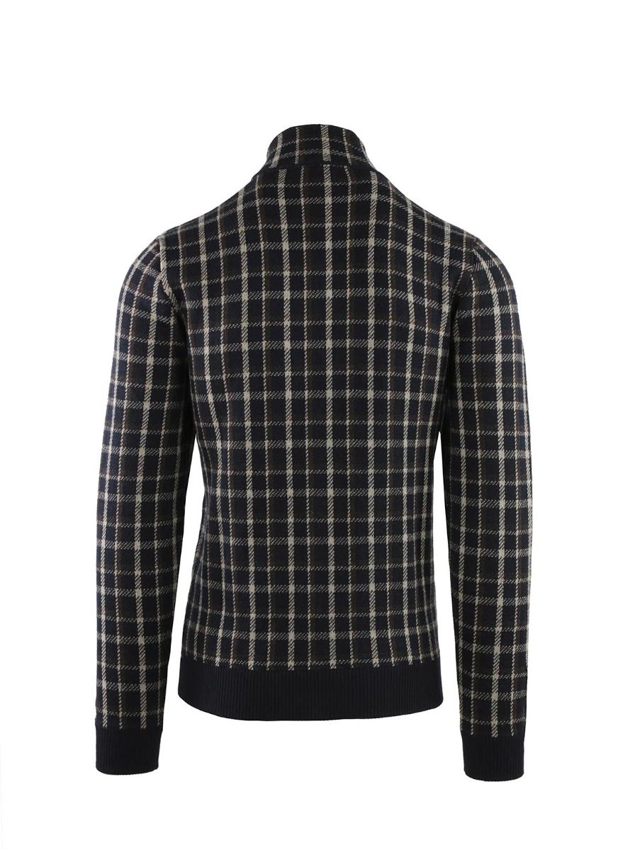 JACKET KNITTED AT SQUARES WITH POCKETS