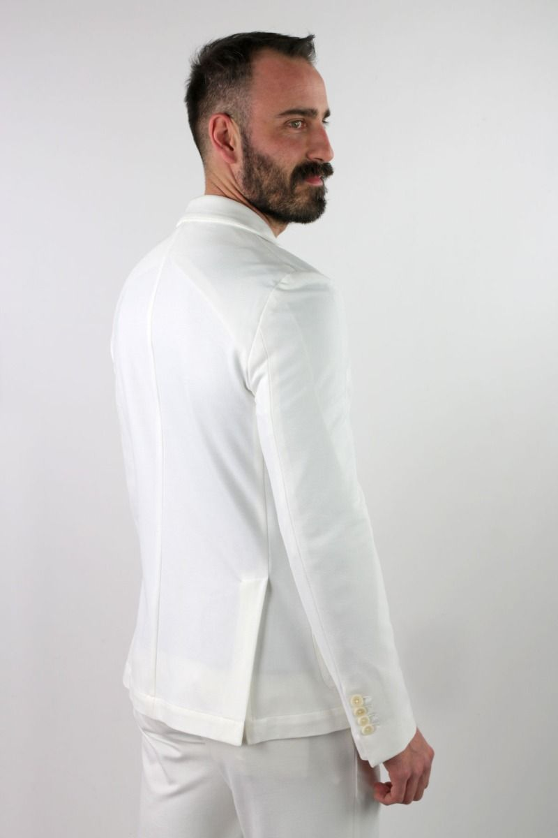 JACKET BUILT SINGLE-BREASTED  IN JERSEY MILAN POINT