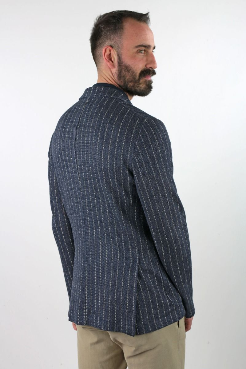 JACKET SINGLE-BREASTED DECONSTRUCTED IN LINEN AT LINES